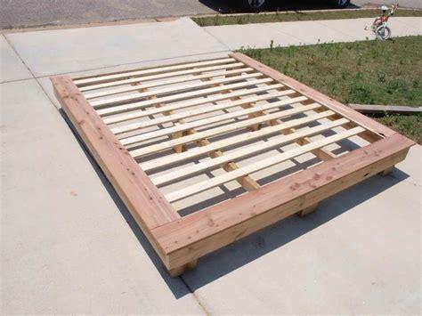 tohow    platform bed base   build