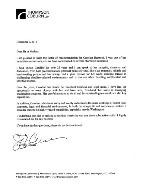 Letter Of Recommendation Research Supervisor letter of reference from former supervisor
