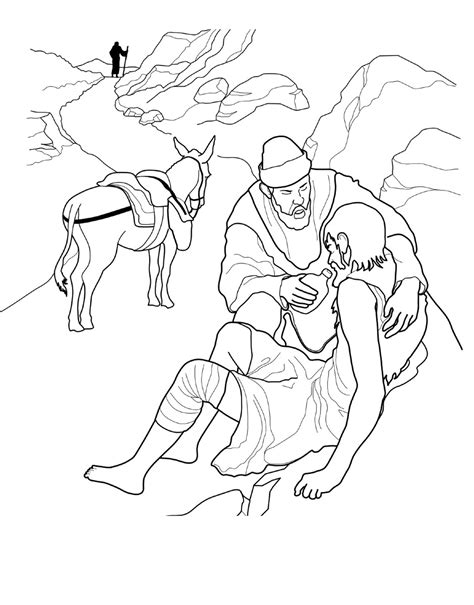 coloring pages for the good samaritan story the good samaritan