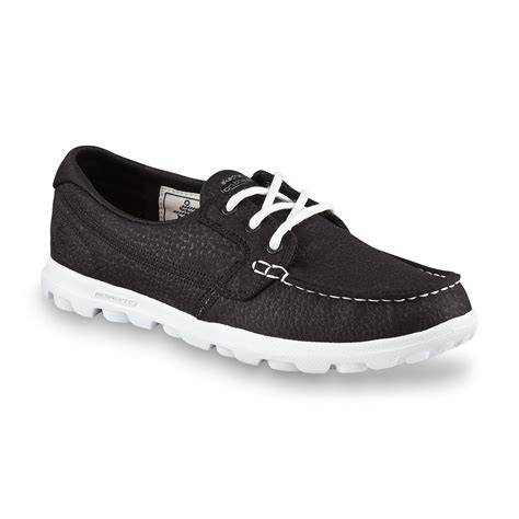 skechers on the go boat shoes skechers s on the go cruise black white boat shoe