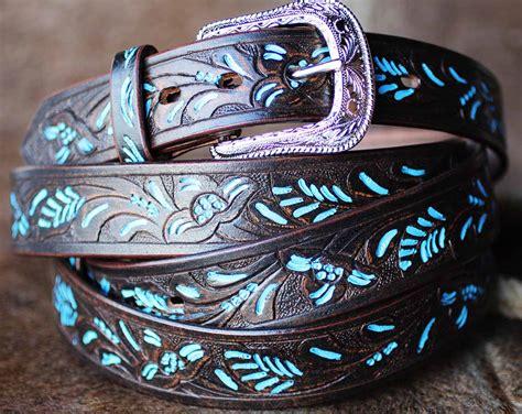Handmade Western Belts - handmade basket weave tool heavy duty western leather belt