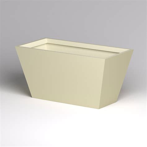 modern tapered fiberglass commercial planter 72in l x 36in