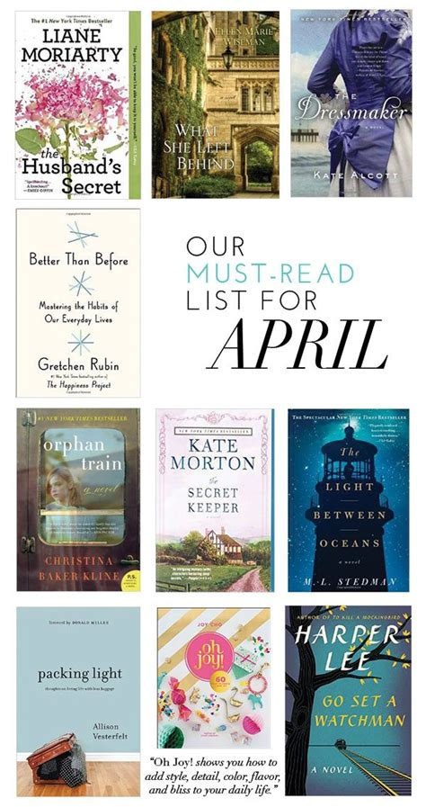 the must guide a listed our must read list for april glitter guide
