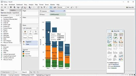 tableau tutorial basics 007 creating a stacked bar chart with labels and tooltips