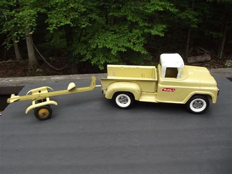 Truck Boat Trailer by Buddy L Step Side Up Truck With Boat Trailer