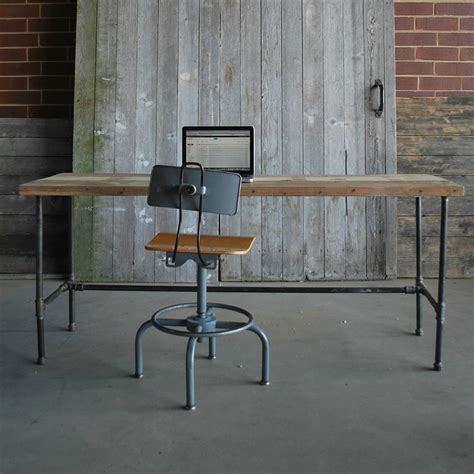 build reclaimed wood office furniture simple desk home