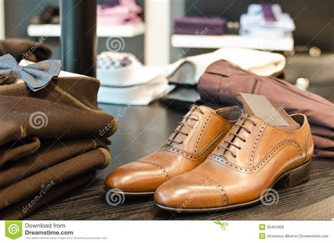 free clothes and shoes s fashion store stock photo image of dress