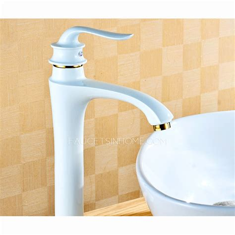 White Bathroom Sink Faucets by Antique White Painting Vessel Mount Bathroom Sink Faucet