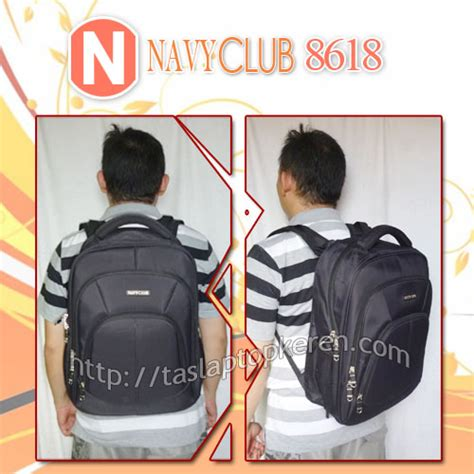 Tas Navy Club Laptop navy club 8618 tas laptop ransel import berkualitas