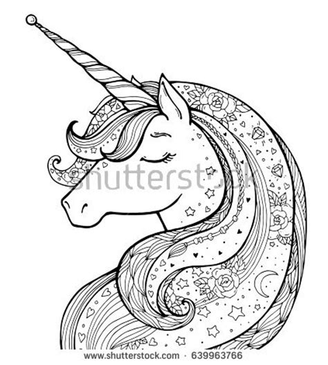 unicorn and flowers an coloring book featuring relaxing and beautiful unicorn coloring pages unicorn gifts for books coloring page stock images royalty free images