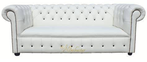 Chesterfield White Leather Sofa Chesterfield Fixed Seat Leather Sofa Offer White Leather Black Buttons Traditional Sofas