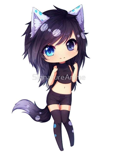 neko anime girl characters quot cute neko anime girl quot posters by signatureanime redbubble