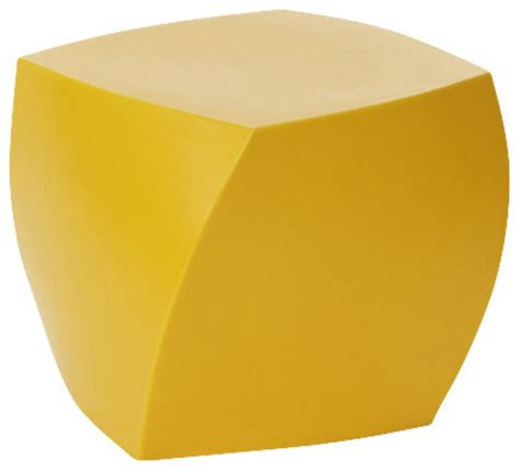 Yellow Tinged Stool by Frank Gehry Color Cube Yellow Outdoor Footstools And Ottomans By Design