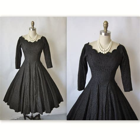 1950 s vintage cocktail dresses 50 s cocktail dress vintage 1950 s black by