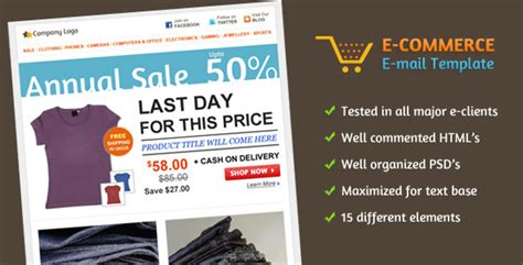 yahoo ecommerce templates e commerce e mail template by nishantpatil themeforest