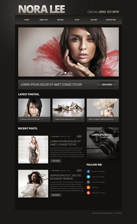 Photographer Portfolio Responsive Joomla Template 50587 Photography Template