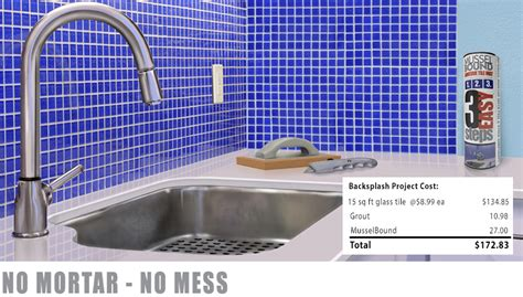 musselbound adhesive tile mat is ideal for kitchen