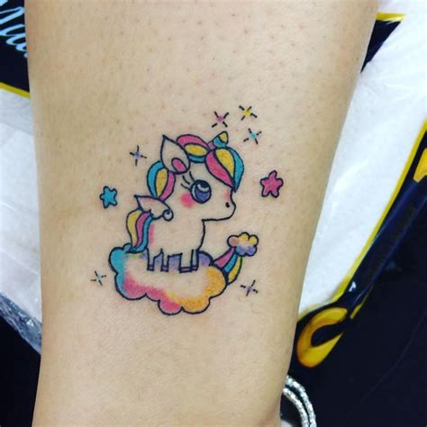 image result for cute watercolor unicorn tattoos tattoo
