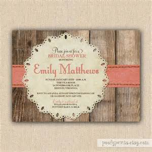 rustic baby shower invitations ideas