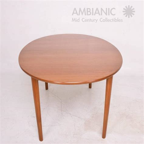Oval Teak Dining Table Modern Teak Dining Table Oval Shape With Extensions For Sale At 1stdibs
