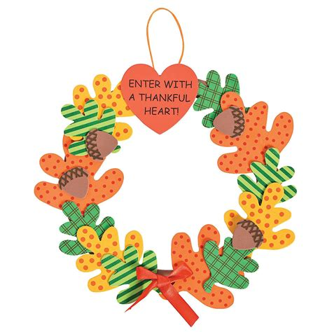 trading crafts enter with a thankful wreath craft kit