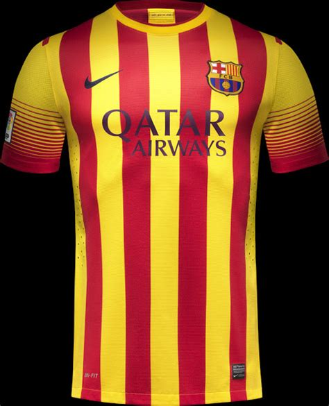 Barcelona Home 13 14 fc barcelona 13 14 home away kits released third kit info footy headlines