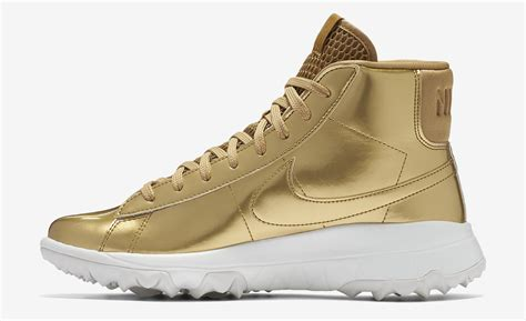 Gold Shoes by Nike Blazer Gold Golf Shoes Sneaker Bar Detroit