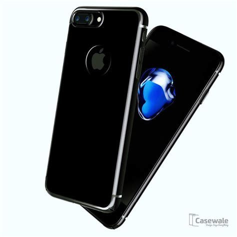 apple iphone 8 8 plus jet black ultra thin original pc cover cas casewale