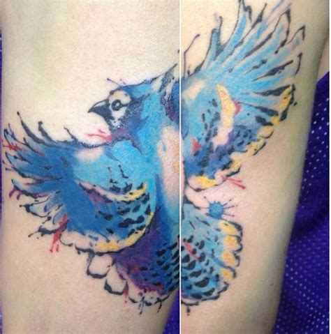 watercolor tattoos in toronto chronic ink toronto water colour blue