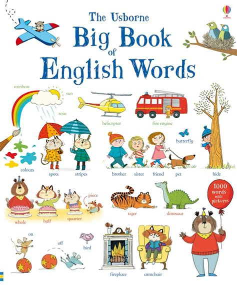 picture word book big book of words at usborne children s books