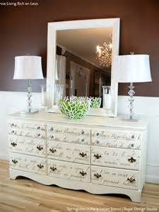 Furniture Stencil by Write On 10 Amazing Furniture Painting Ideas With Letter Stencils Paint Pattern