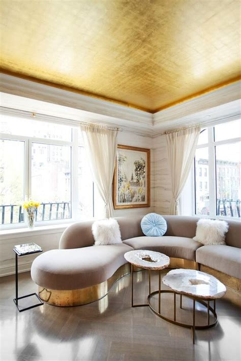 Gold Leaf Ceiling Paint by Gold Leaf And Painted Ceilings On