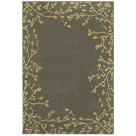 Oriental Weavers Arbor Vine Blue 4 Ft X 6 Ft Area Rug Rugs 6 Ft