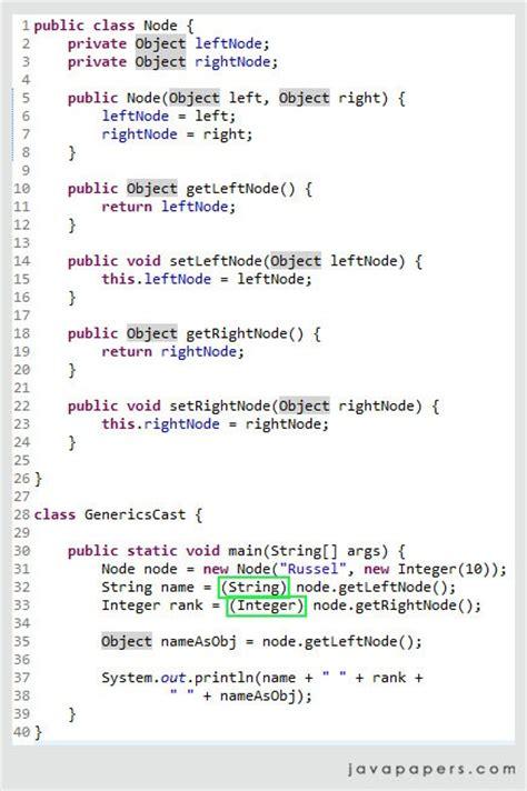 java pattern comments exle cast in java generics java tutorial blog