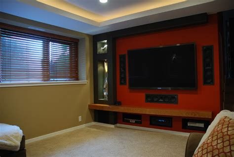 small home theater contemporary home theater