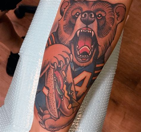 chicago bears tattoos 54 amazing chicago bears tattoos ideas about