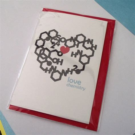 chemistry valentines day card chemistry card by wong notonthehighstreet