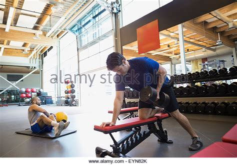 dumbbell row on bench dumbbell row stock photos dumbbell row stock images alamy