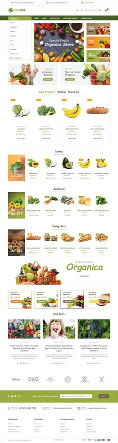 themeforest organica fresh food organic food fruit vegetables ecommerce psd