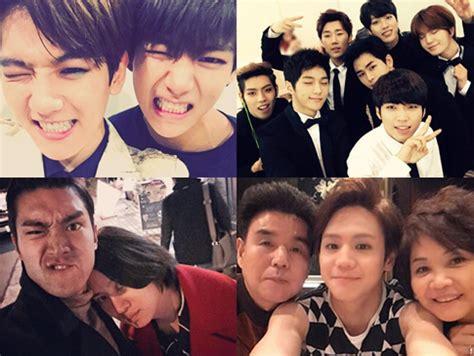 detik kpop heboh selfie baekhyun exo dan v bts super junior