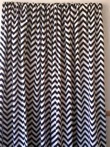 Black And White Chevron Curtains Items Similar To Black And White Chevron Zigzag Curtain Panels One Set 64 Quot Two Curtain