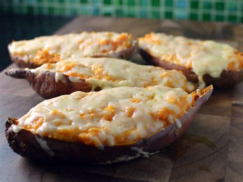 sweet potato boats recipe sriracha loaded sweet potato boats skins