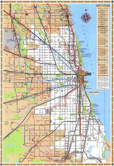 chicago map usa map of chicago usa