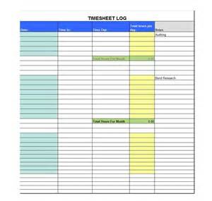 Timecard Template Excel by 41 Free Timesheet Time Card Templates Free Template
