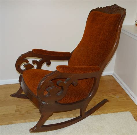 lincoln rocking chair history antique mahogany upholstered rocking chair quot lincoln rocker