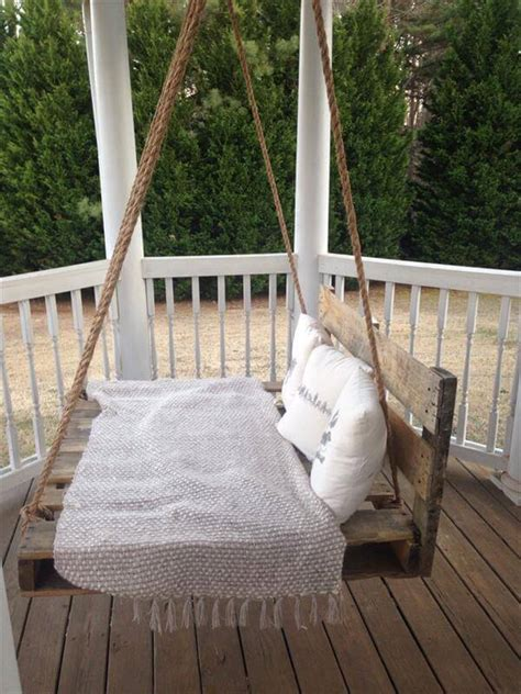 diy porch swing bed diy pallet swing bed pallet furniture diy