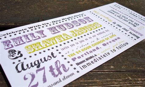 wedding invitations like concert tickets concert ticket wedding invitation sle set by