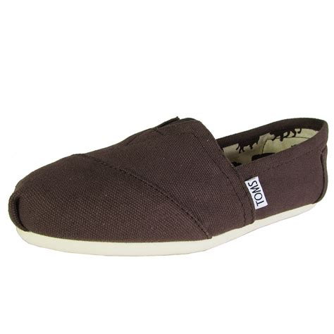 Toms Shoes Canvas With Box toms womens classic canvas slip on casual shoe