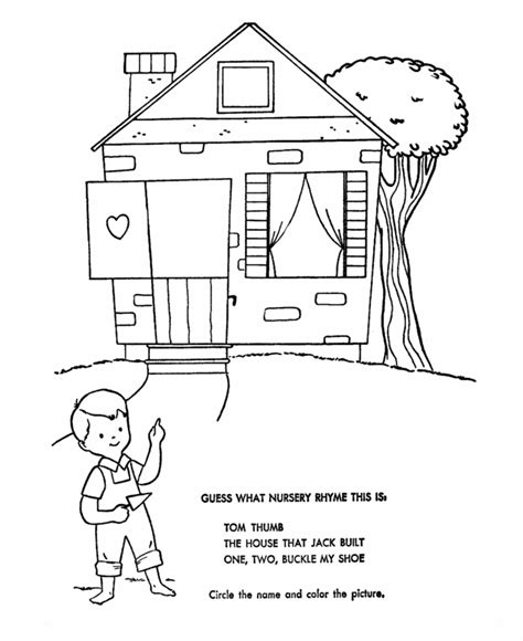 what rhymes with house free coloring pages of jack and jill