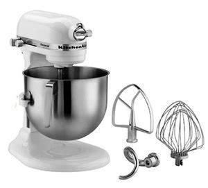kitchenaid 7qt bowl lift stand mixer white discount